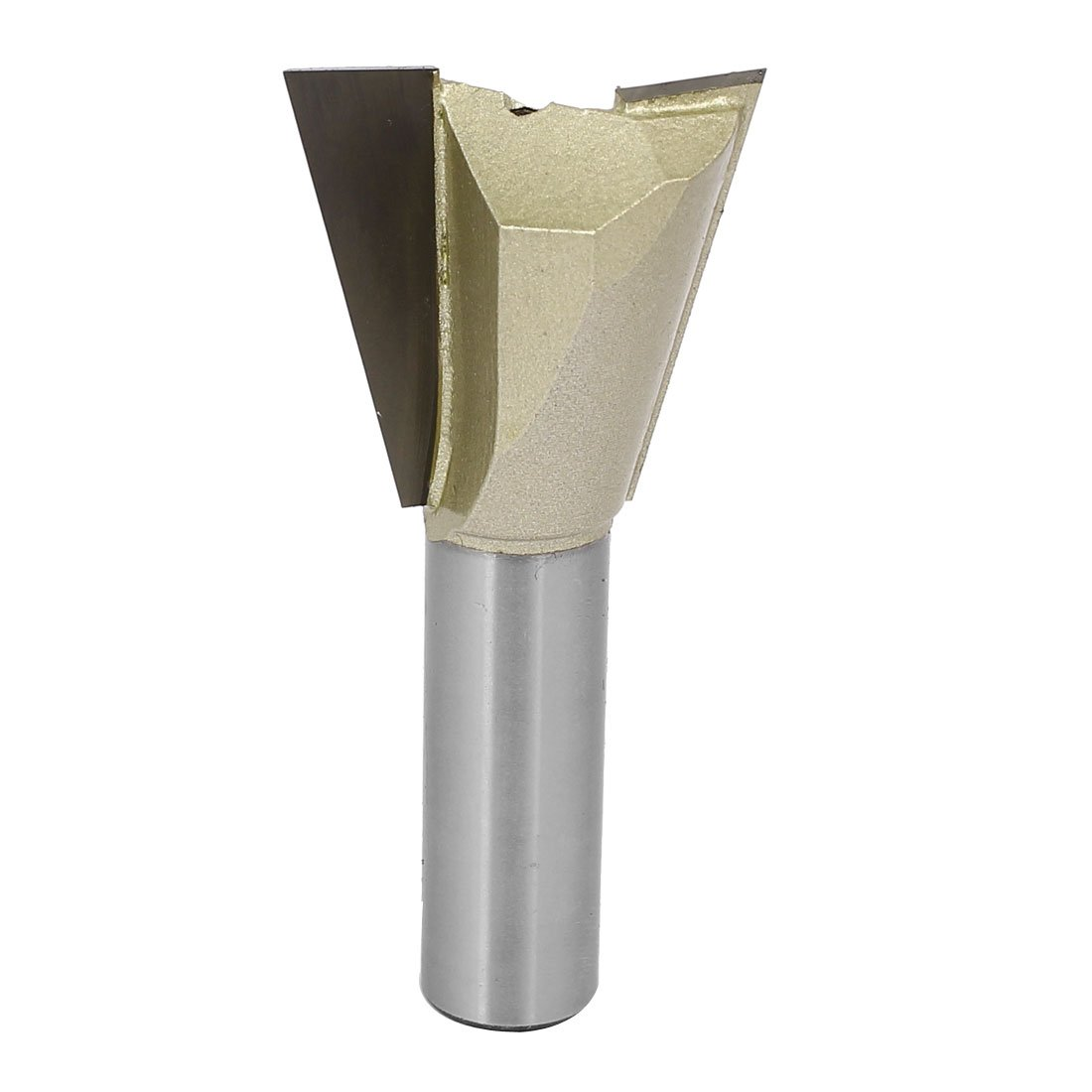 uxcell 1/2-inch Round Shank 1-1/4-inch Cutting Dia Woodwork Dovetail Router Bit