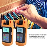 FTTH Tool Kit, Loss Test Fiber Optic Power Meter, Fiber to The Home Tool Optical Light Source Automated Industry Sensor