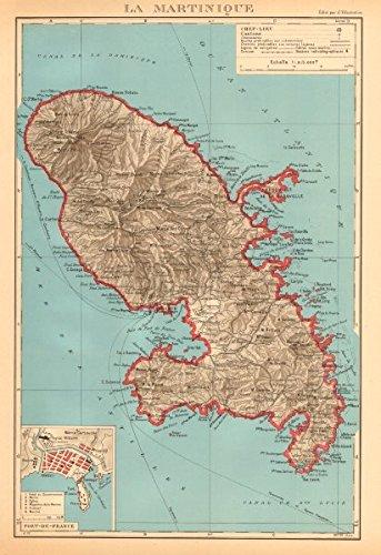 martinique-fort-de-france-plan-antilles-francaises-french-west-indies-1938-old-map-antique-map-vinta