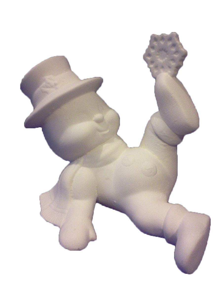 Creative Kreations Ceramics Snowman Snowflake on Foot 7 Ceramic Bisque Ready to Paint