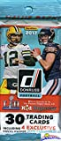 2017 Donruss NFL Football Factory Sealed Jumbo Fat Pack with 30 Cards Including (4) EXCLUSIVE Press Proof Blue Parallels! Look for RC's & Autographs of Deshaun Watson,Mitchell Trubisky & More! WOWZZER