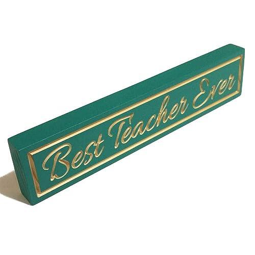 teacher gifts christmas best teacher ever desk sign teacher christmas gift desk accessories teacher sign - Best Teacher Christmas Gifts