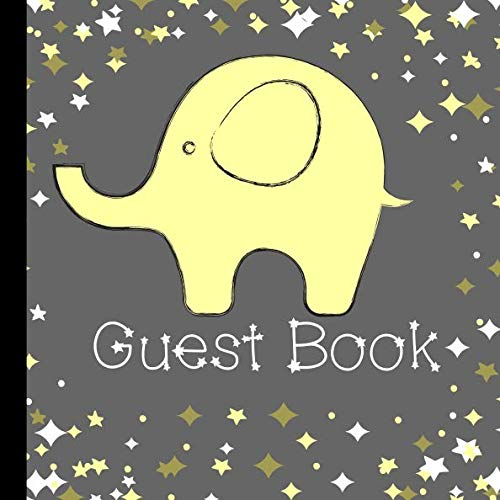 Guest Book: Beautiful Yellow Elephant Baby Shower Guest Book Includes Gift Tracker and Picture Pages to  Create a Lasting Memory You Can Treasure Forever ()