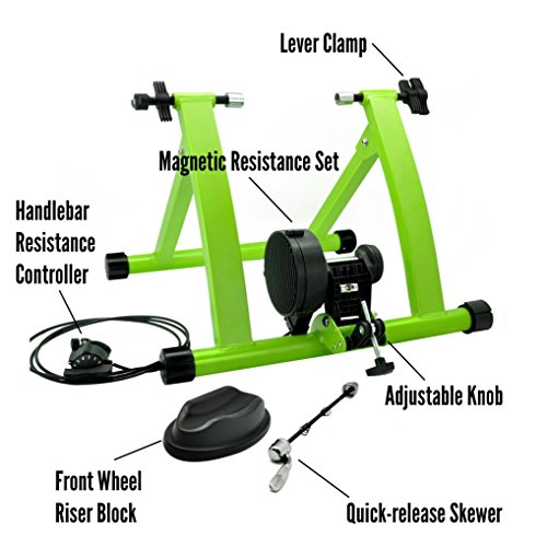 DS Green 6 Levels Magnetic Resistances Bike Trainer Stand by DS (Image #3)