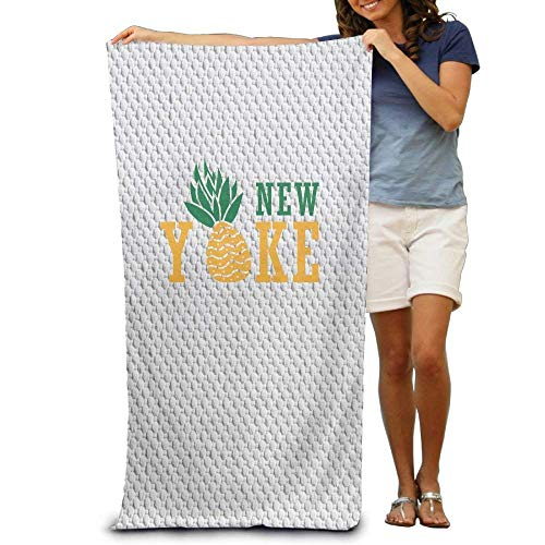 - Claude Bart Pineapple New York Bath Towels Soft Machine Washable Easy Care Pool Towel Fast Drying Travel Multipurpose Use Spa Quality Lightweight