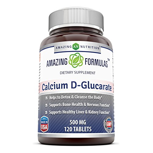 Amazing Formulas Calcium D-Glucarate (500 Mg, 120 Tablets) Combines The Benefits Of Calcium With The Benefits Of Glucaric Acid. Supports Body's Detoxification Function By Helping The Liver & Kidney To Process And Flush Out Toxins. Supports Healthy Bones & Teeth