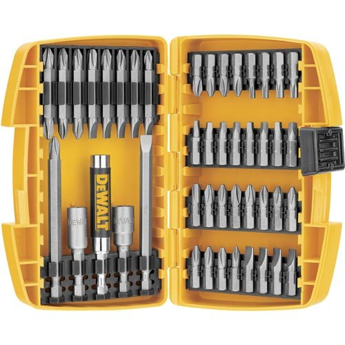 Screwdriver Bit Kit - DEWALT DW2166 45 Piece Screwdriving Set with Tough Case