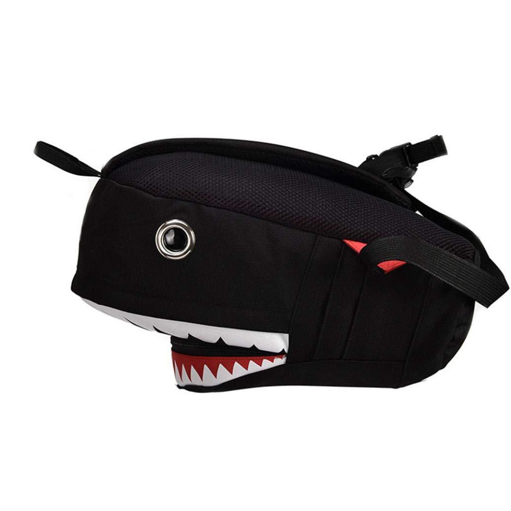 Clearance Sale Kids Boy Girl Cartoon Shark Preschool Backpack School Bookbags Shoulder Bag (L, Black) by Vicbovo (Image #3)