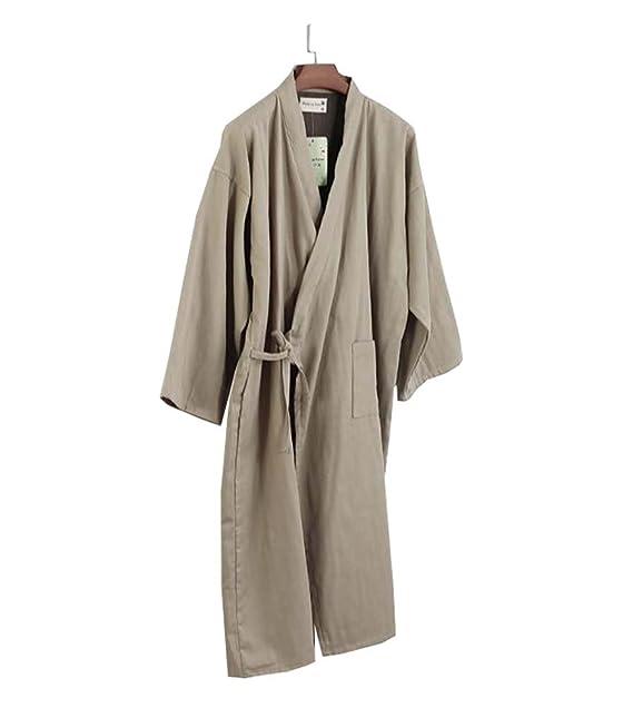 DRAGON SONIC Kimono de algodón para hombre Batas de dormir pijamas Khan Steamed Albornoz Yukata -