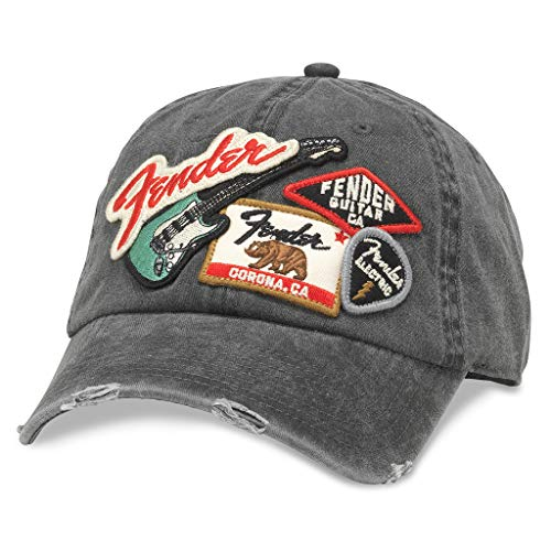 Fender Patch - American Needle Iconic Fender Electric Guitar Baseball Dad Hat (FEND-1905A-BLK)