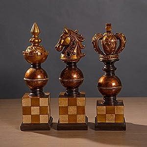SU@DA American rural/upscale clubs/Villa/home/ornaments/3pcs/chess figurines