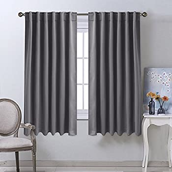 Blackout Curtain Panels For Living Room   (Grey Color) 52x63 Inch, 2 Panels Part 20