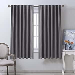 NICETOWN Blackout Curtain Panels For Living Room   (Grey Color) 52x63 Inch,  2