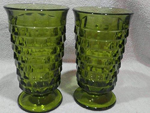 Colony Iced Tea (Colony Indiana American Whitehall Green Ice Tea Glasses Lot of 2)