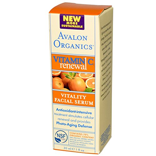 Avalon Organics, Vitamin C Renewal, Vitality Facial Serum, 1 fl oz (30 ml)