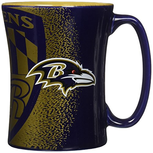 NFL Baltimore Ravens Mocha Mug, 14-ounce, Purple
