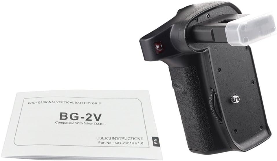 TPOTOO BG-2V Professional Vertical Battery Grip Camera Battery Grip Holder Compatible for Nikon D3400 Camera