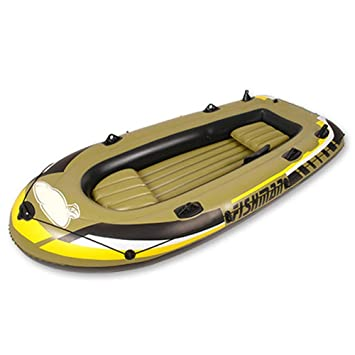 L&WB Kayak Inflable, Barco De Pesca Durable para Un Viaje Rápido ...