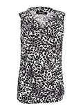 Nine West Women's Plus Size Animal Print Ity Drape Neck Top, Mink Multi, 2X