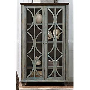 Martin Furniture Fully Assembled Bailey Display Bookcase, Weathered Green