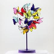 Bedside lamp purple and multicolor butterflies,Nursery Decor Baby Girl light,Kids Decor,Baby Nursery,gift new born girls bedroom butterfly