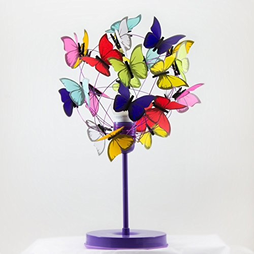 Bedside lamp purple and multicolor butterflies,Nursery Decor Baby Girl light,Kids Decor,Baby Nursery,gift new born girls bedroom butterfly