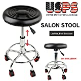 Mybesty Adjustable Barber Tattoo Salon Stool Hydraulic Rolling Chair Facial Massage Spa
