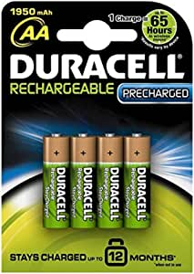 Duracell Rechargeable PreCharged AA 1950mAH Battery - 4 Pieces