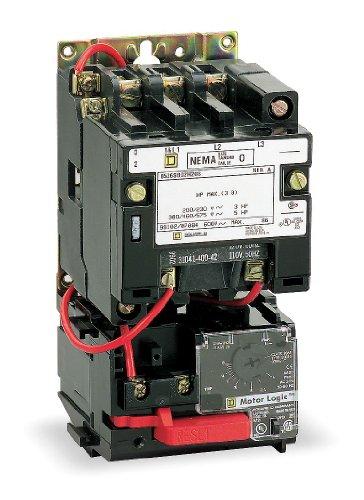 110 Coil VAC at 50 Hz, 120 Coil VAC at 60 Hz, 45 Amp, NEMA Size 2, Nonreversible Open Enclosure NEMA Motor Starter