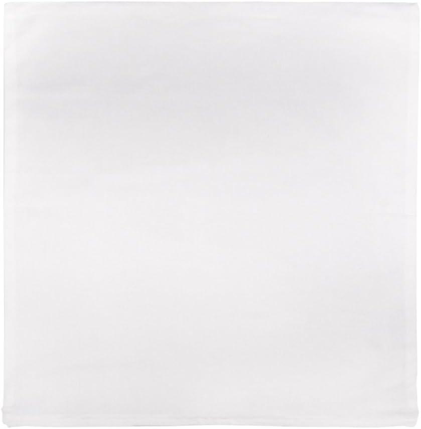 con Cremallera, 50 x 50 cm Funda de coj/ín Rayher 3828300 colro Blanco