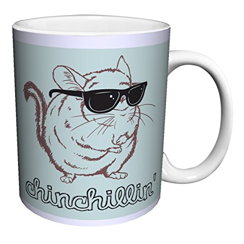 Snorg Tees Chinchillin Novelty Lifestyle College Animal Humor Ceramic Gift Coffee (Tea, Cocoa) 11 Oz. - Sunglasses Caption