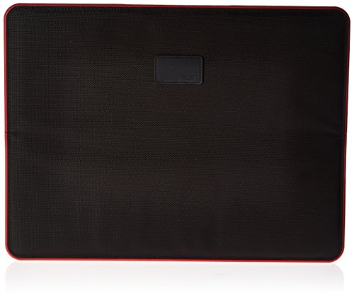 "Tumi 15"" Slim Solutions Laptop Cover Briefcase, Black/Red, One Size"