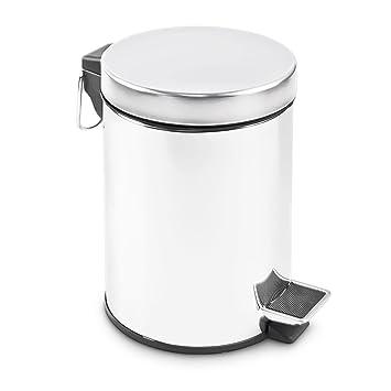 Komplett Neu Edelstahl Abfalleimer 3 Liter - Treteimer für Küche oder Bad  AW13