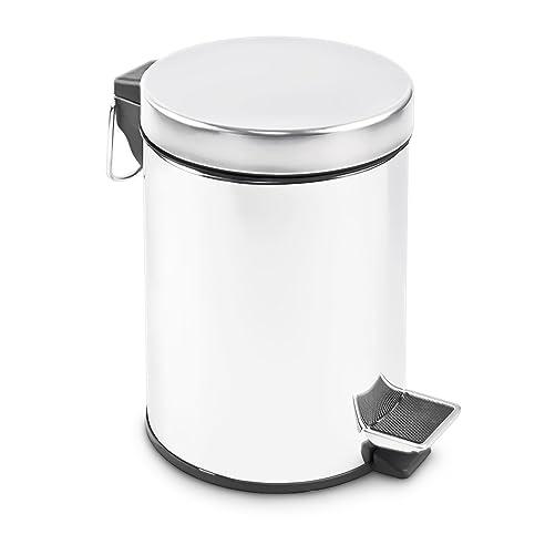 Edelstahl Abfalleimer 3 Liter - Treteimer für Küche oder Bad ...