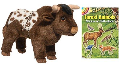 [Douglas Tornado Bull Plush Animal with Sticker Book, 11
