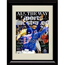 Framed Anthony Rizzo and Kris Bryant SI Autograph Replica Print - 2016 Champs! - Team Signed