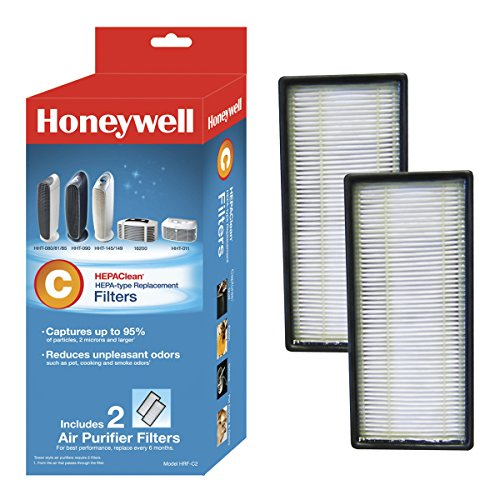 Hepa Replacement Air Filter Cleaner (Honeywell HEPAClean Air Purifier Replacement Filter 2 Pack, HRF-C2/Filter (C))