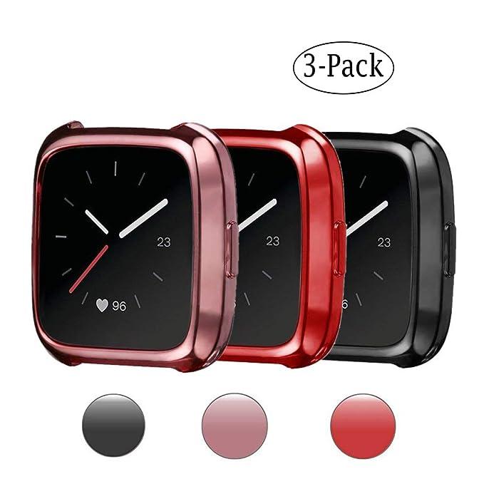 Funda Fitbit Versa, resistente a los arañazos, suave ...