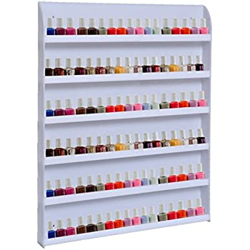Amazon.com: Sodynee Nail Polish Wall Rack Holds 96 Bottles