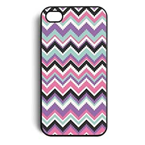 Aztec Zigzag Chevron Tribal Pattern Snap On Case Cover for Apple iPhone 4 iPhone 4s