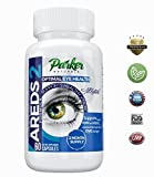 Optimal Eye Health Eye Vitamin and Mineral Supplement AREDS 2 by Parker Naturals. Packed with Vitamins C & E, Lutein, Zeaxanthin. Special NEI Tested Formula - 60 Day Supply