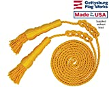 Gold Cord and Tassels for 4x6' Indoor or Parade Flag Display