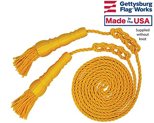 Gold Cord and Tassels for 4x6' Indoor or Parade Flag Display by Gettysburg Flag Works