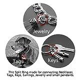 TI-EDC Split Rings Titanium Small Key Rings Pack of