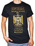 SPOT15 Men's Republic of Iraq T-shirt Small Black