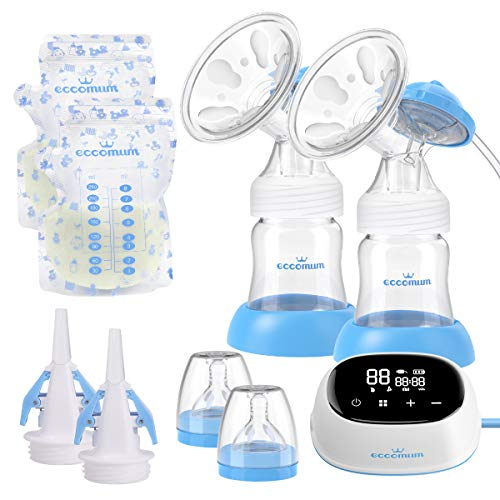9 Stufen pro Modus Elektrische Milchpumpe mit doppelter Saugkraft Elektrische Stillpumpe mit gro/ßer Saugkraft Leises automatisches Milchpumpenger/ät 3 Modi