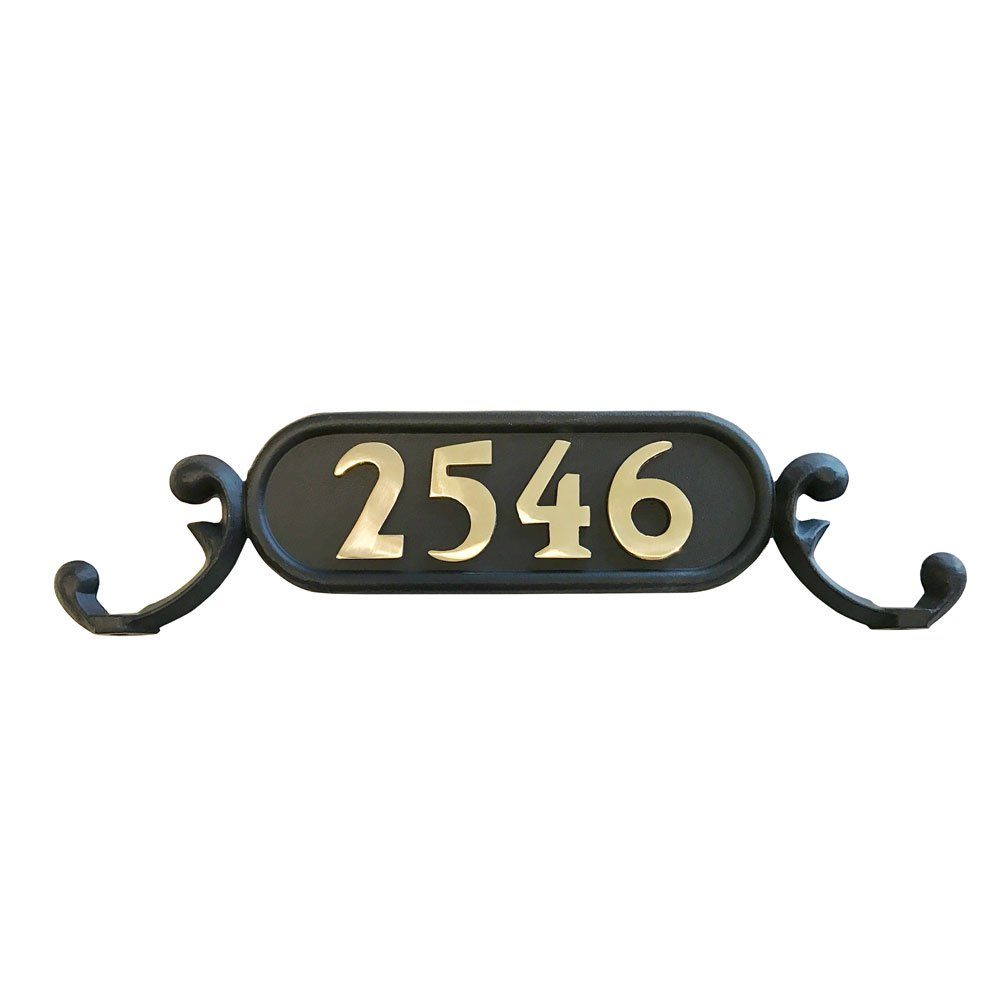 Addresses of Distinction The Charleston郵便受け用番地番号プレート NP-1-BRASS B01MYEPRW3 17441 Includes Solid Brass Numbers Includes Solid Brass Numbers