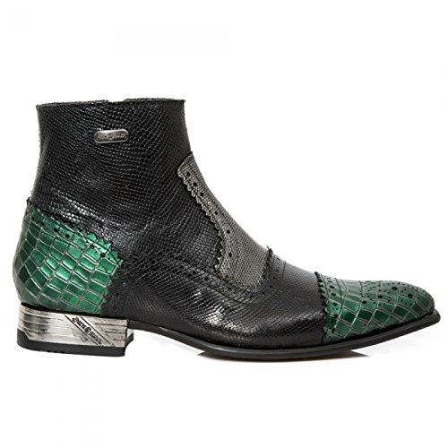 New Rock Boots M.nw133-s14 Punk Rampicante Herren Stiefelette Schwarz