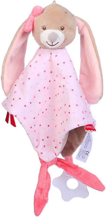 Toyvian Toalla de bebé de felpa, suave peluche de seguridad de conejo de juguete relajante para bebés de niños pequeños