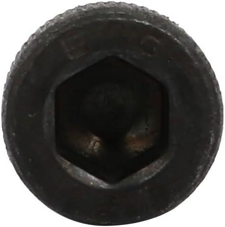 sourcingmap/® 5pcs M5x20mm Fully Thread 12.9 Grade Hex Socket Cap Left Hand Screw Bolt Black